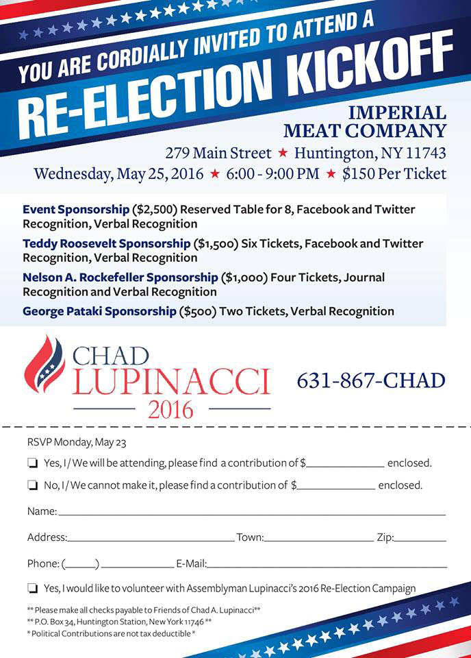 Chad Lupinacci Re-Election Kickoff at Imperial Meat Company