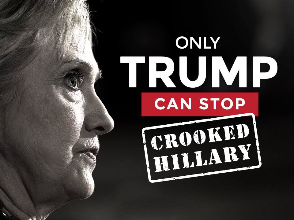 Only Trump Can Stop Crooked Hillary