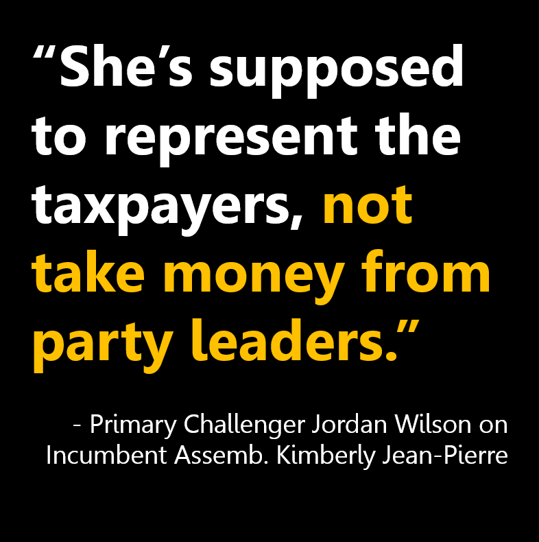 She's supposed to represent the taxpayers, not take money from party leaders
