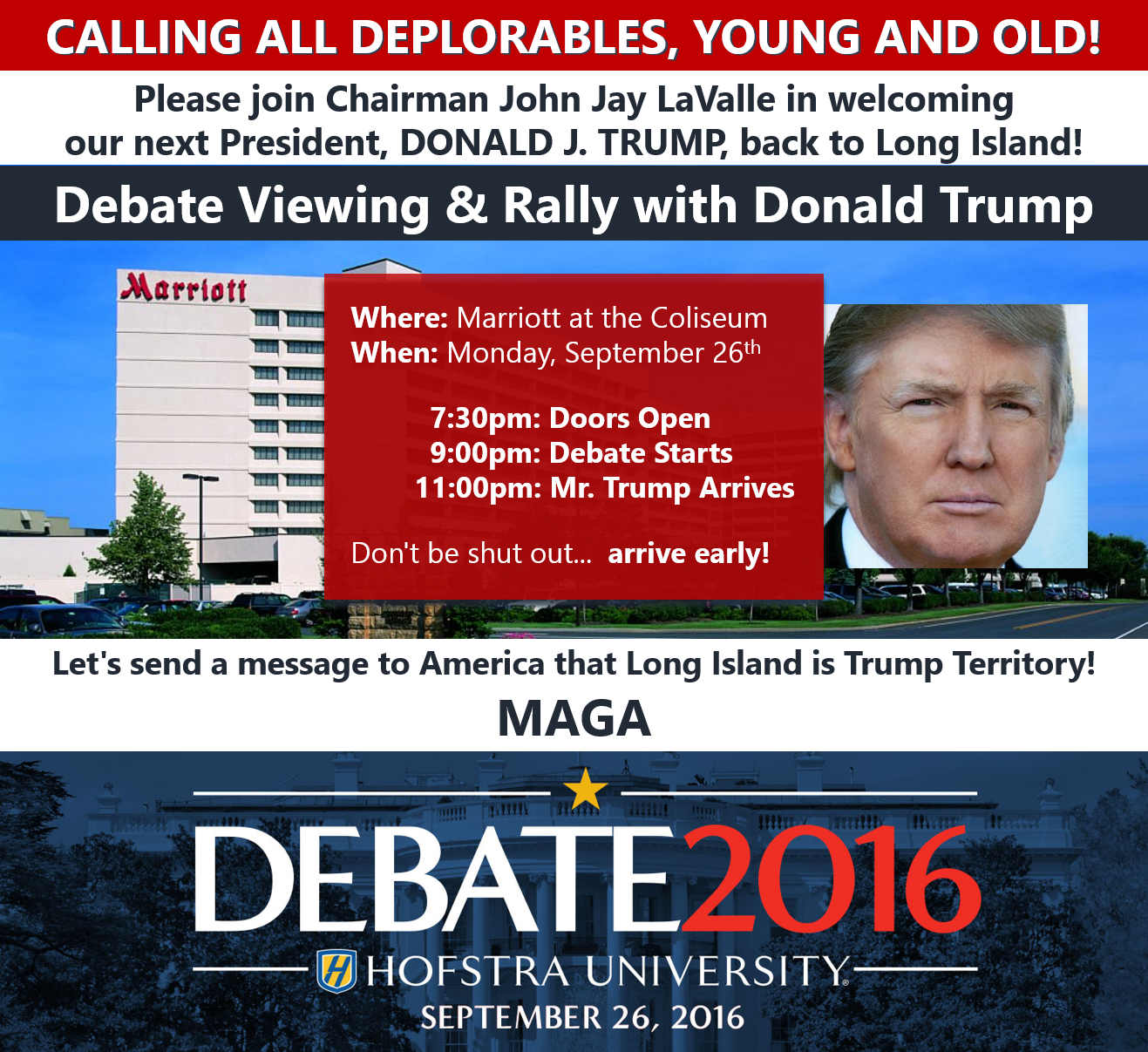 Presidential Debate Viewing and Rally with Donald Trump