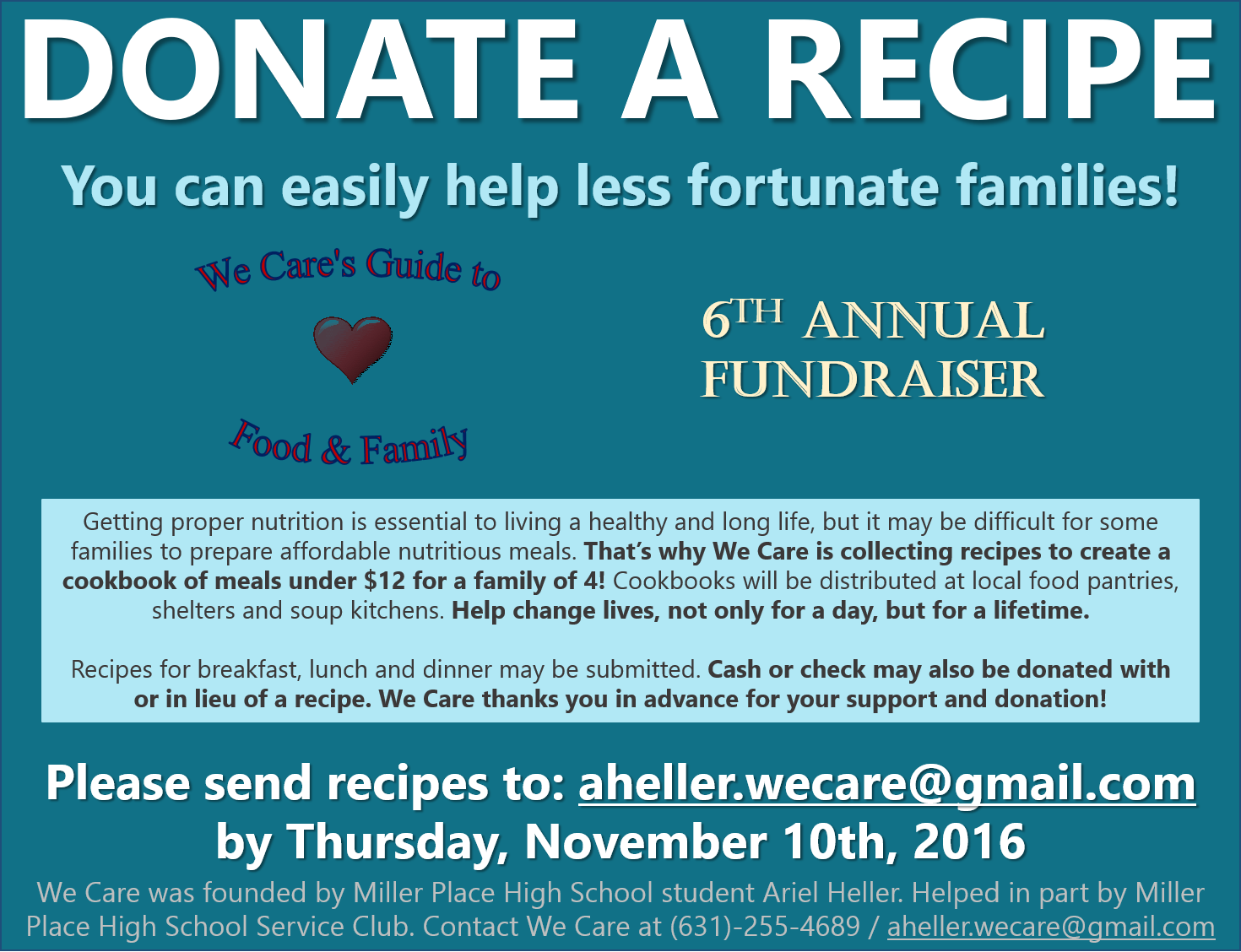 Donate a Recipe to Help the Less Fortunate - Suffolk County ...