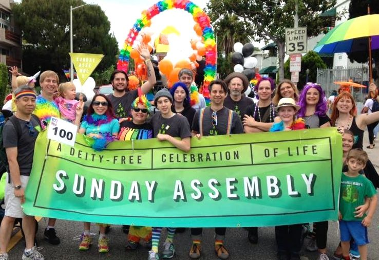 SALA group with banner at LA Pride