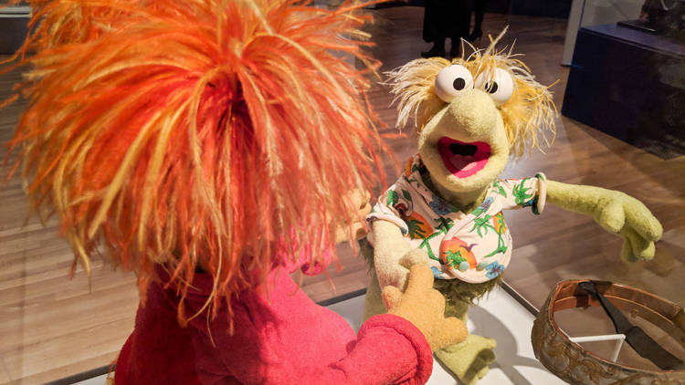 Fraggles at Jim Henson exhibit at the Skirball