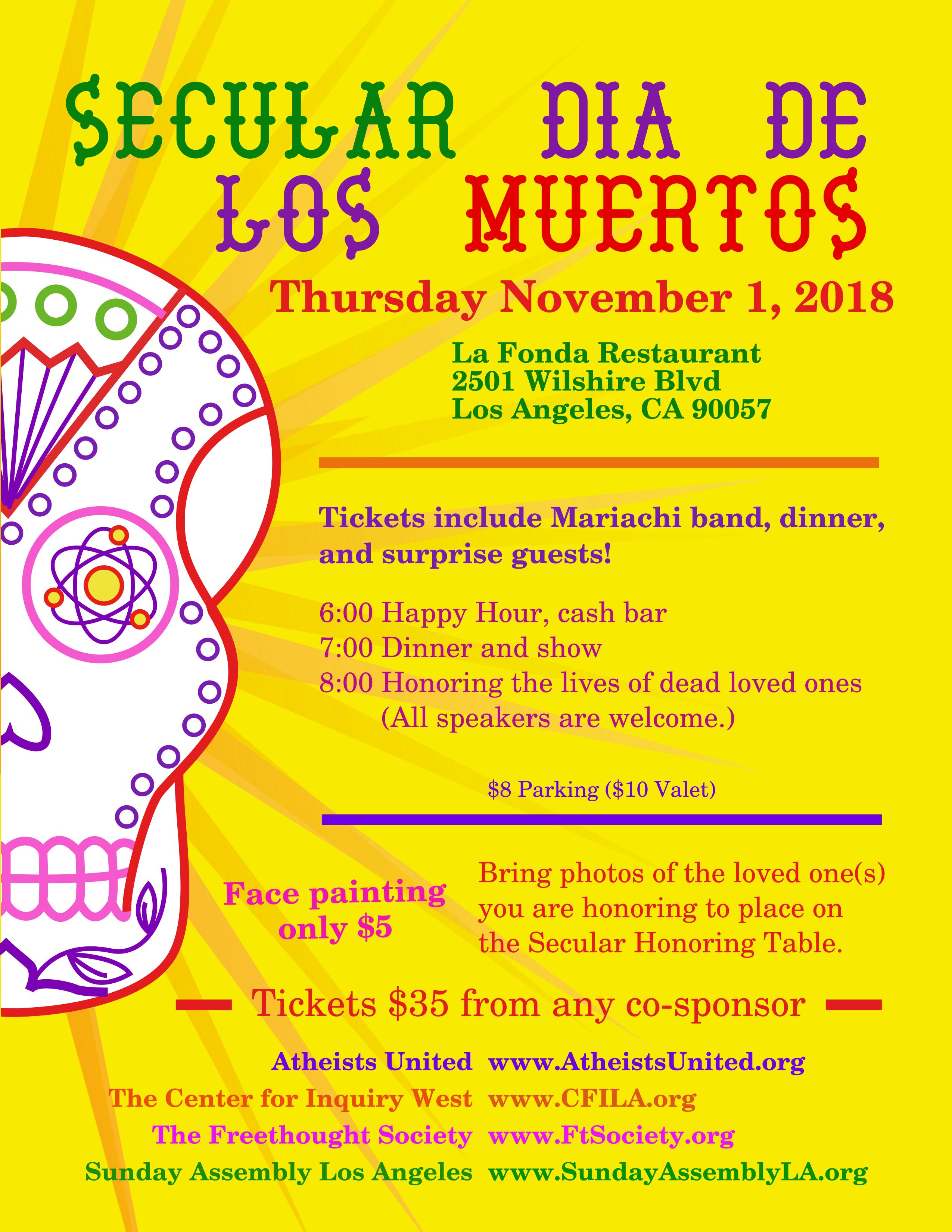Secular Dia de Los Muertos Flyer