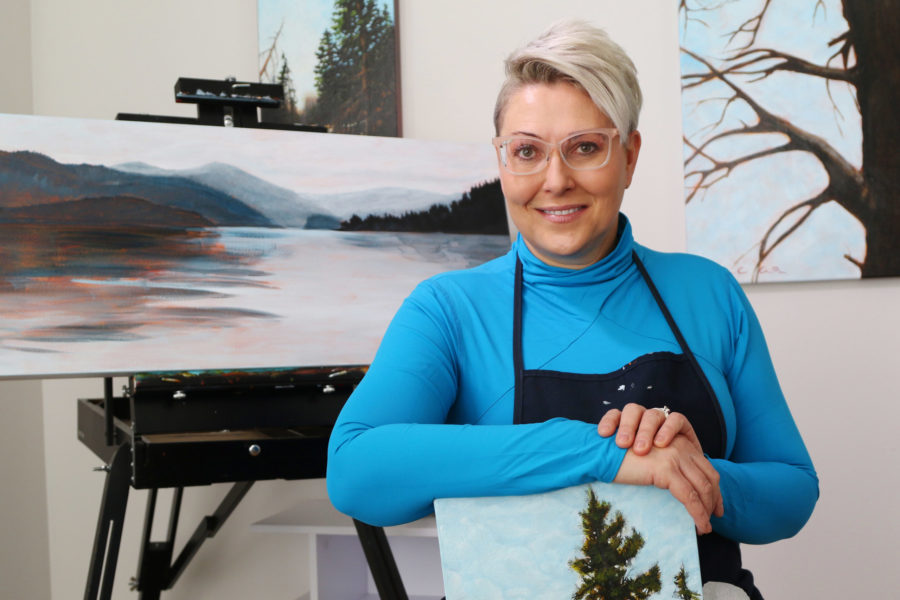 Artist aims to use reclamation paintings to change the conversation about Canadian oil and gas