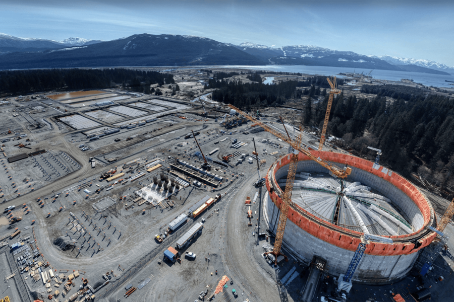 Construction ramping up on LNG Canada