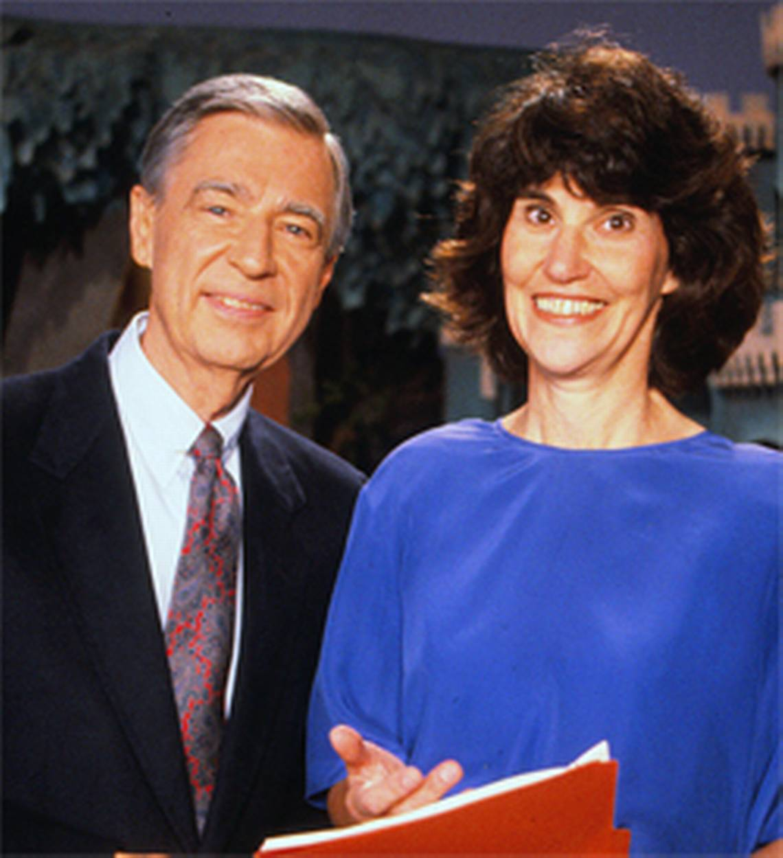 Hedda Sharapan with Fred Rogers