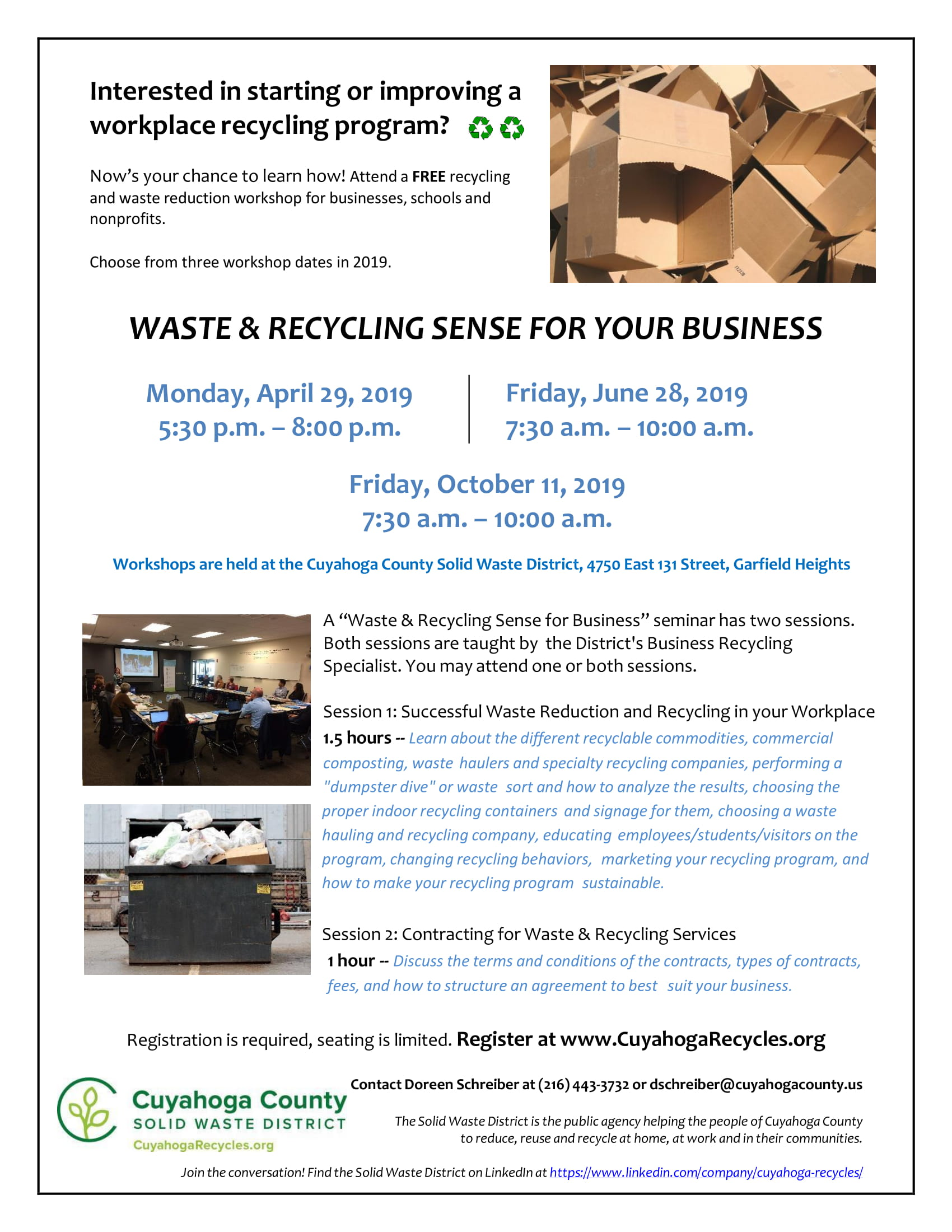 Waste & Recycling Sense for Your Business - Sustainable Cleveland