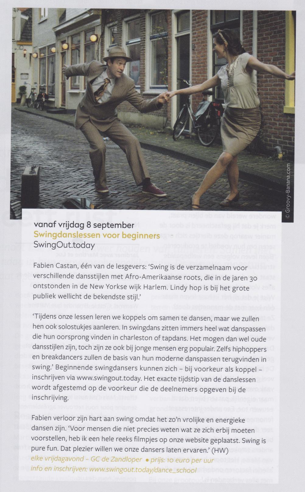SwingOut.today, De Zandloper Magazine, September 2017