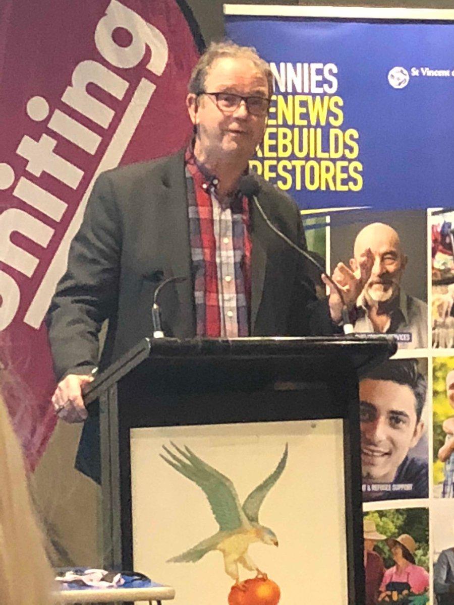 Vinnies CEO,Jack de Groot addressing the audience