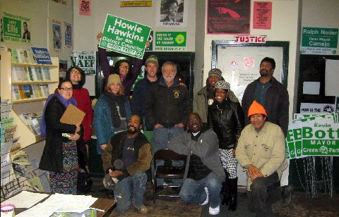 Volunteers get ready to canvass in 2013 for Syracuse Green candidates.