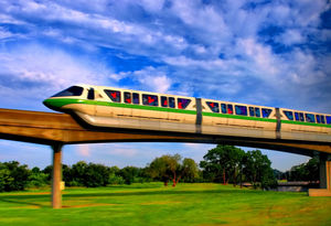 Monorail Monday - From a Moving Bus