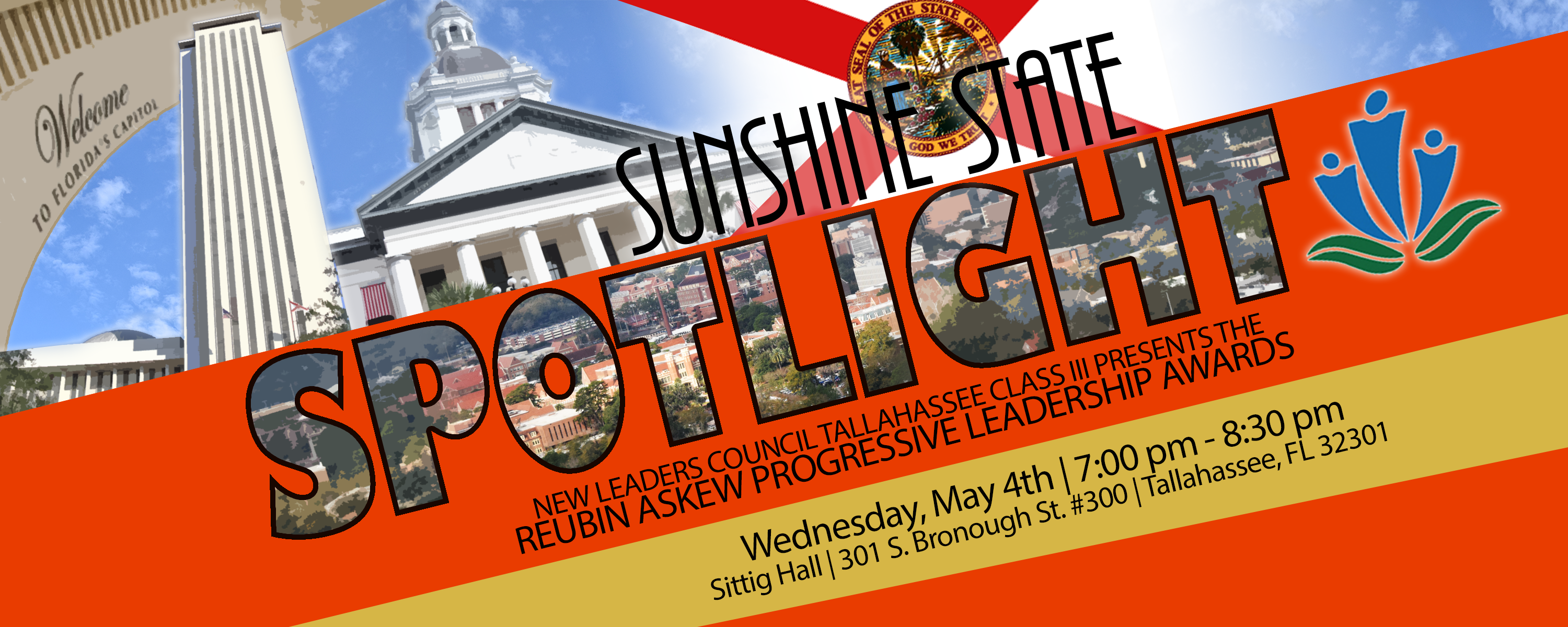 Sunshine State Spotlight banner includes photo of the Florida Capitol and state flag along with the NLC logo