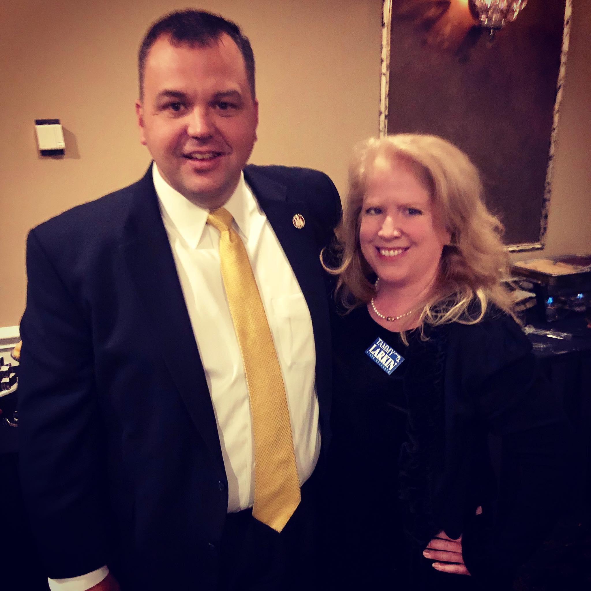 Senator Jennings and Tammy Larkin