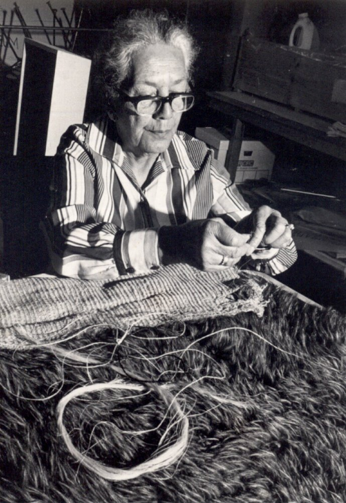 Aunt_Marj_Rau-Kupa_Working_On_Museum_Cloak_1983.jpg