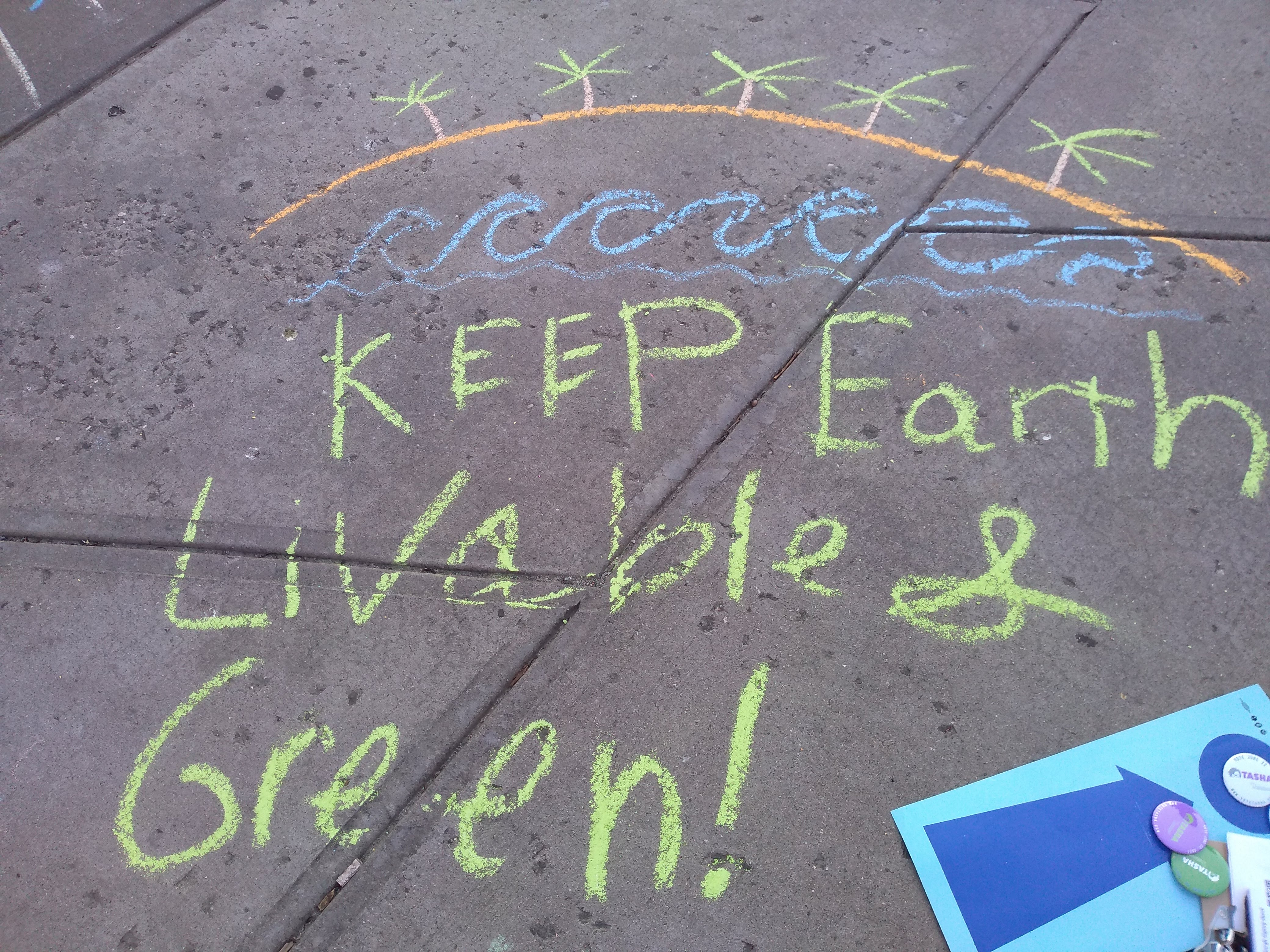 Earth Day chalk event