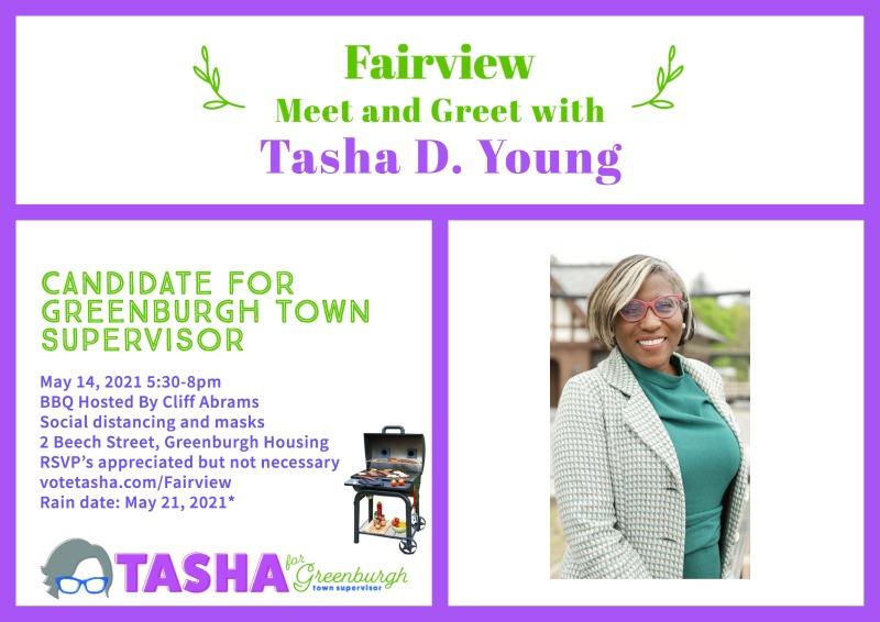 flyer for Tasha meet and greet