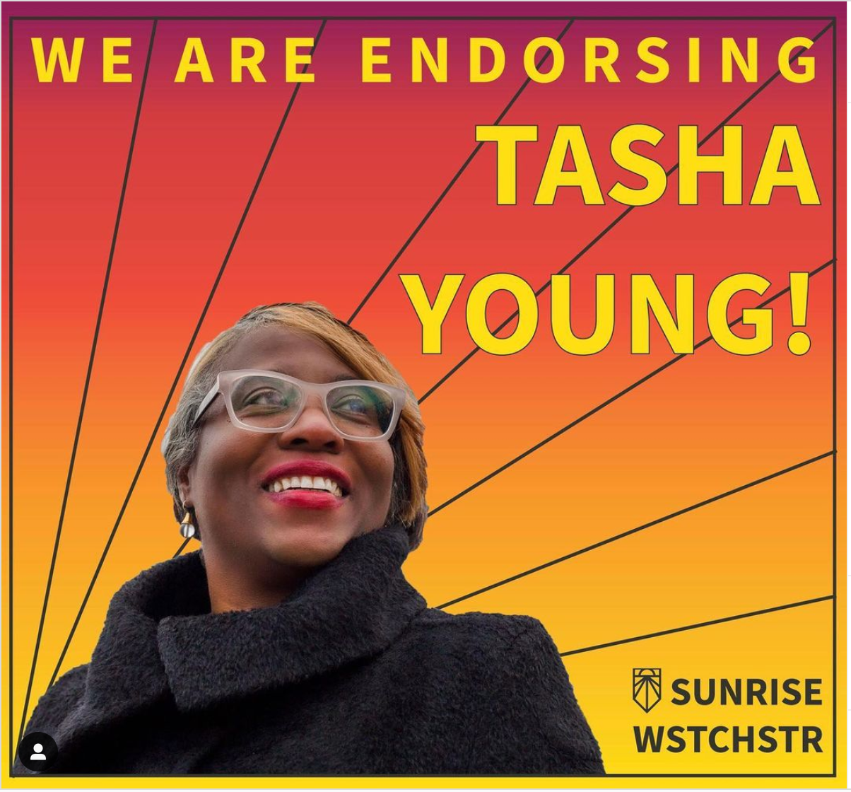 The Sunrise Movement Westchester endorsed Tasha D. Young for Greenburgh Town Supervisor