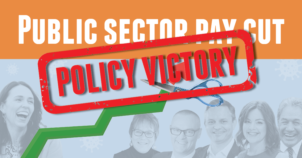 Pay cut victory