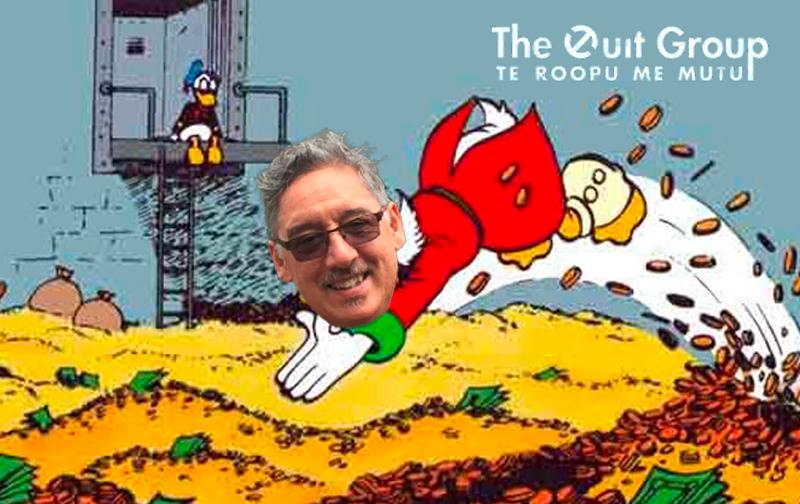 Paul Callaghan swandiving