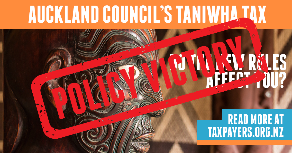 Taniwha Tax policy victory