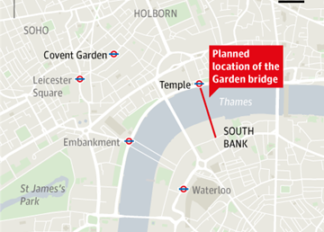Location of the Garden Bridge