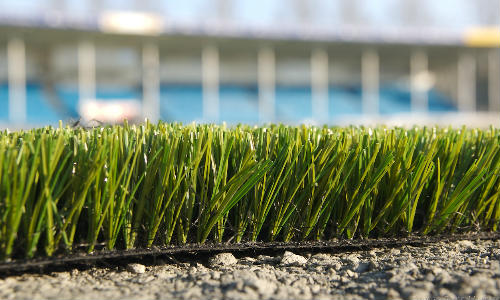 Close up picture of astro-turf