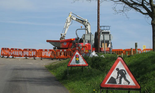 Roadworks ahead