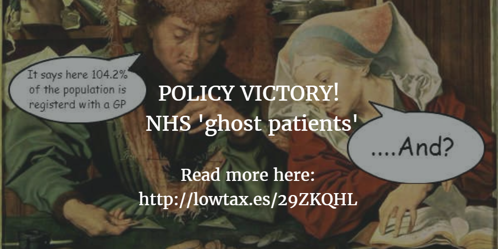 TPA Policy Victory: The NHS will finally start dealing with 'ghost patients'