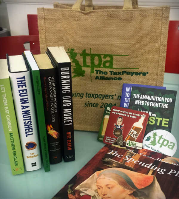 Tweet to win TPA badges, books and bag