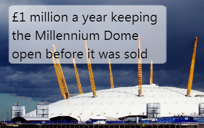 £1 million a year keeping the Millennium Dome open before it was sold