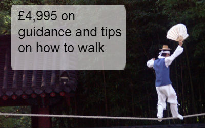 £4,995 on guidance and tips on how to walk