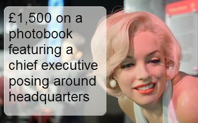 £1,500 on a photobook featuring a chief executive posing around headquarters