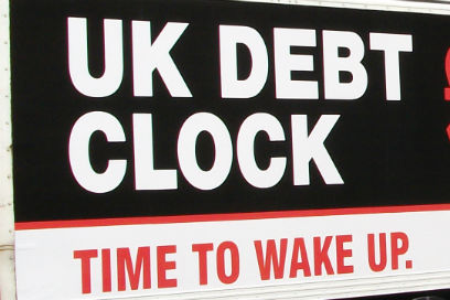 The UK Debt clock counts out Government debt as it happens and the numbers are terrifying