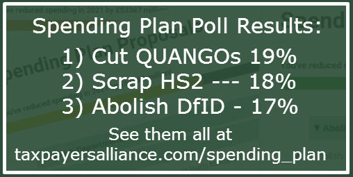 Cut Quangos, Scrap HS2, Abolish DfID