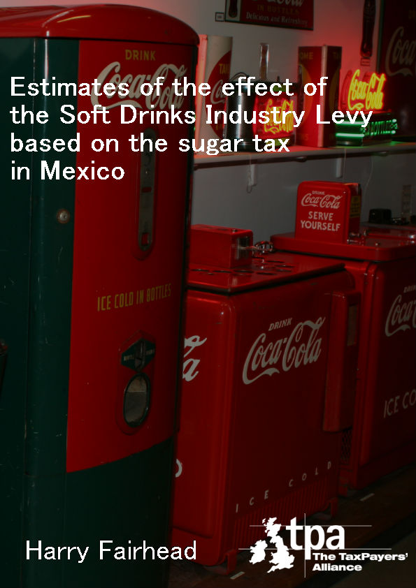 Estimates of the effect of the Soft Drinks Industry Levy based on the sugar tax in Mexico cover