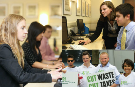 Our office volunteers work with the TaxPayers' Alliance assist with key projects and campaigns
