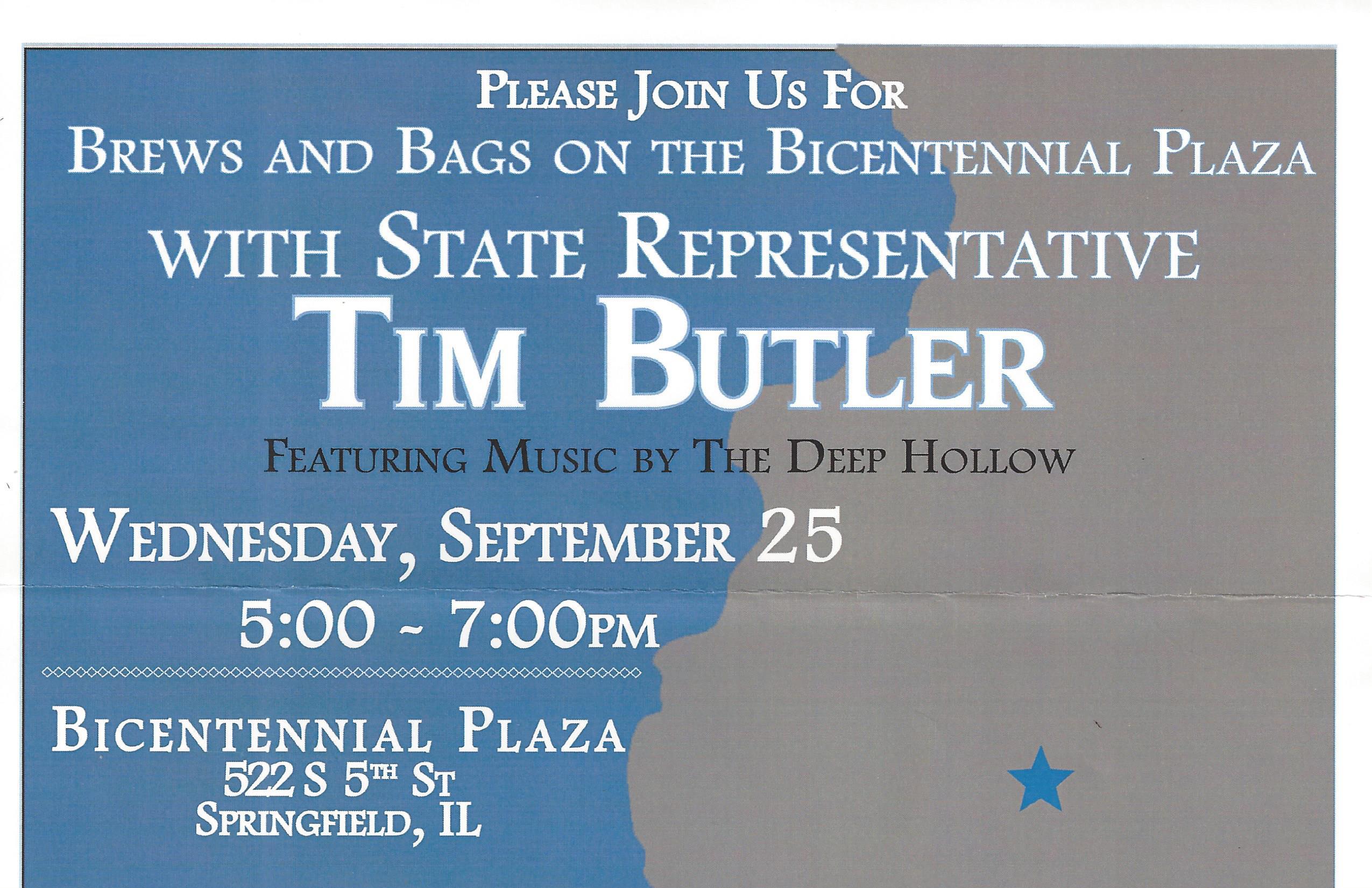 Tim Butler Brews & Bags at the Bicentennial Plaza