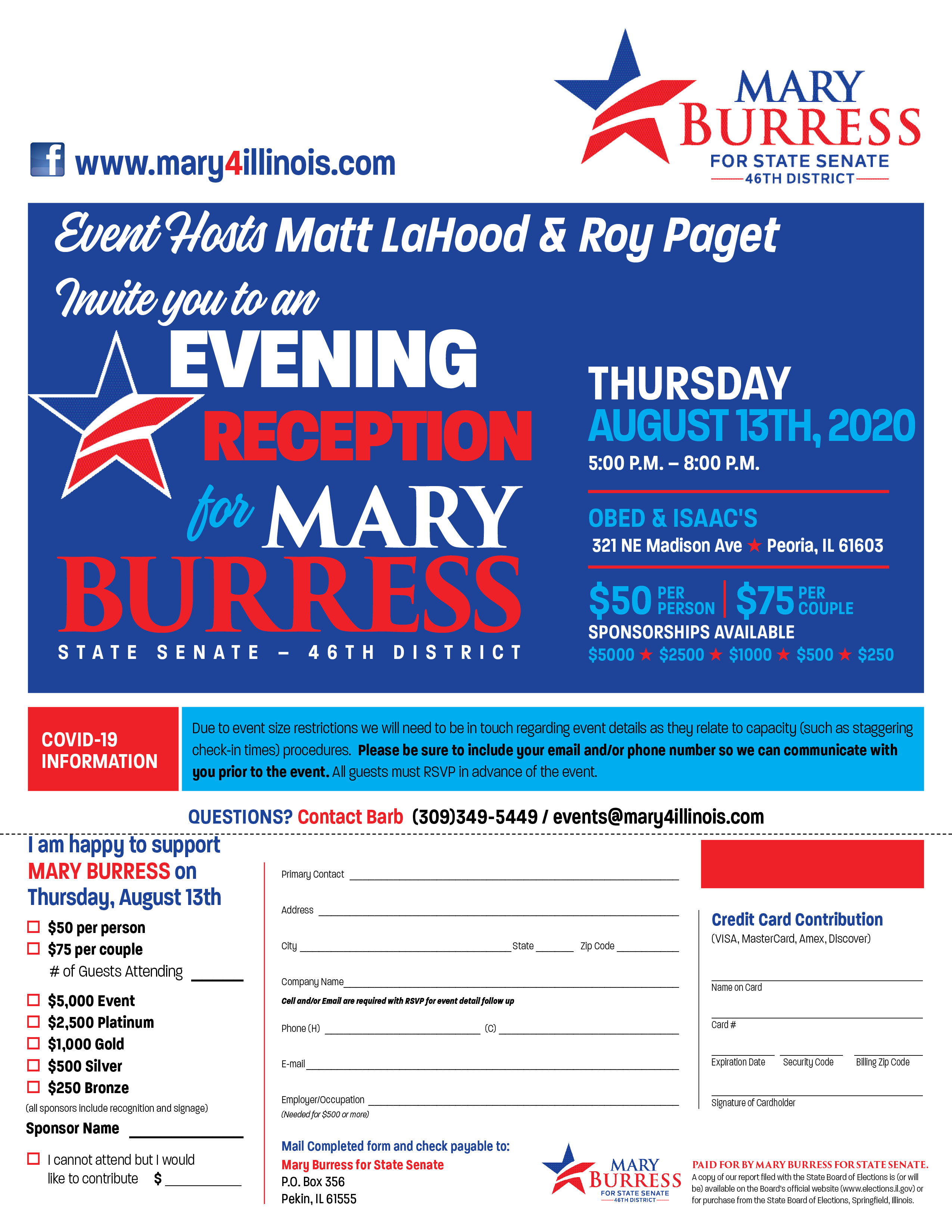 Mary Burress Reception