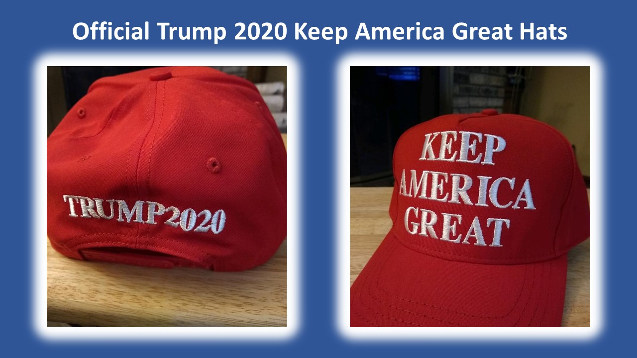 Official Trump 2020 Keep America Great Hats