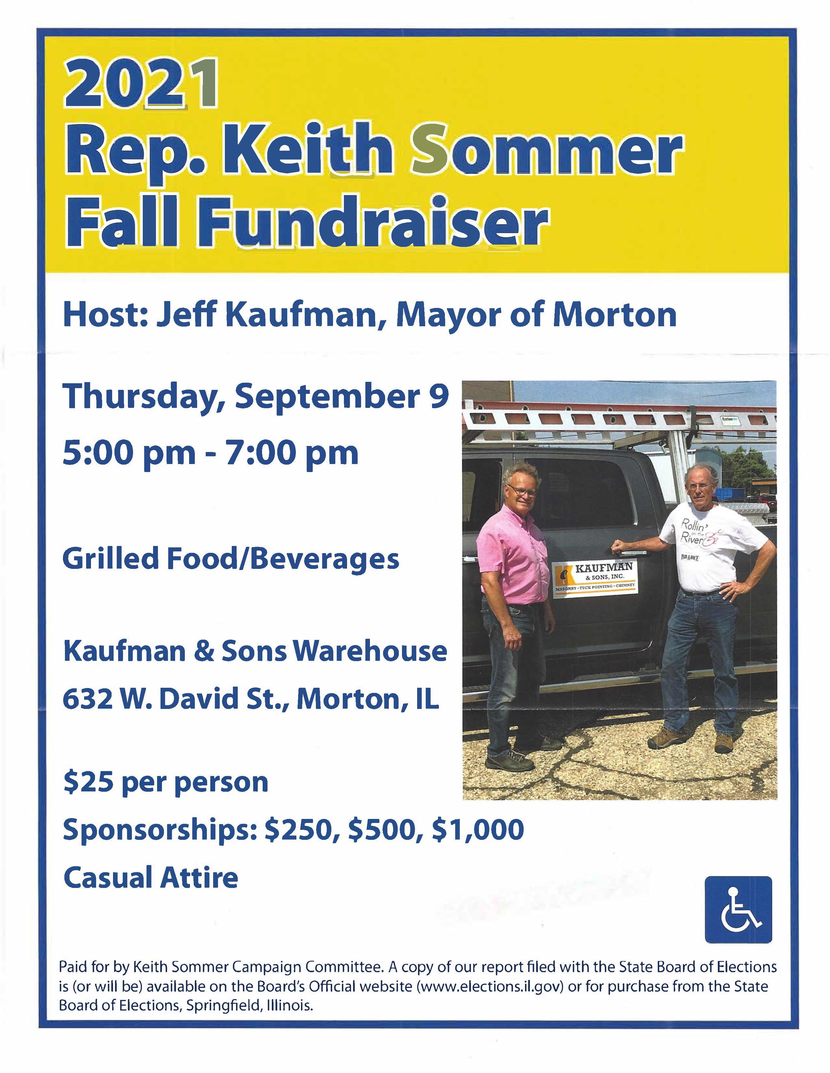 Keith Sommer Fall Fundraiser