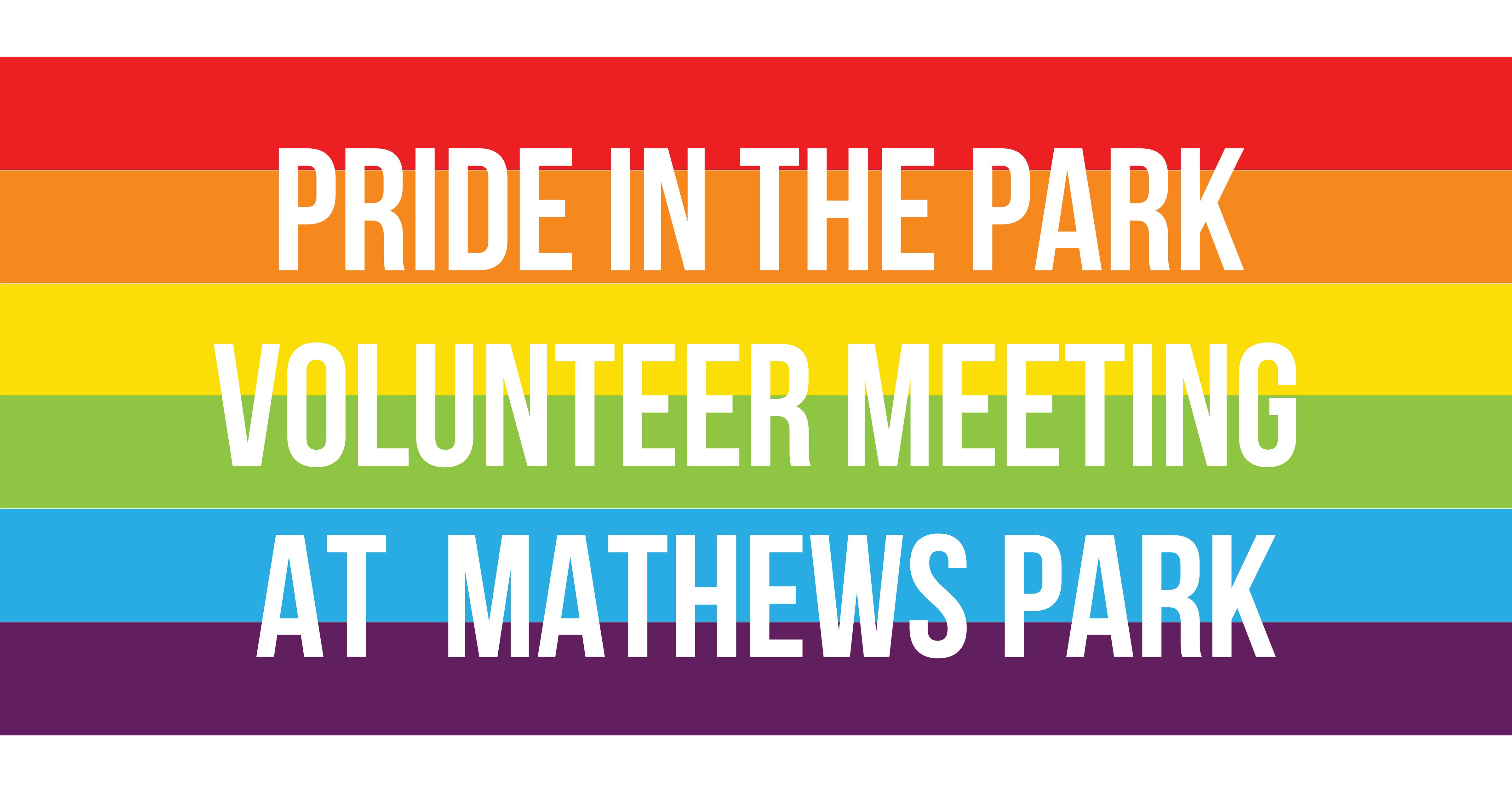 Volunteer Meeting at Mathews Park