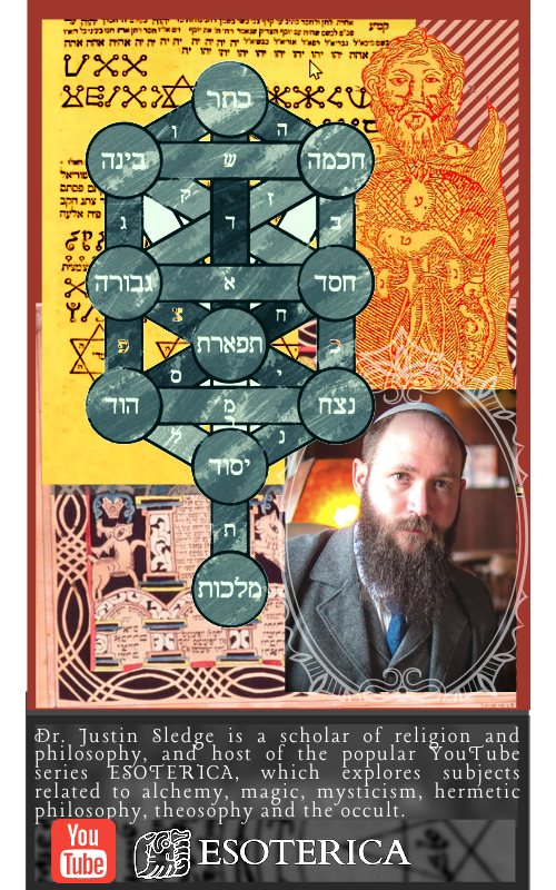 Dr. Justin Sledge is a scholar of religion and philosophy, and host of the popular YouTube series ESOTERICA, which explores subjects related to alchemy, magic, mysticism, hermetic philosophy, theosophy and the occult.