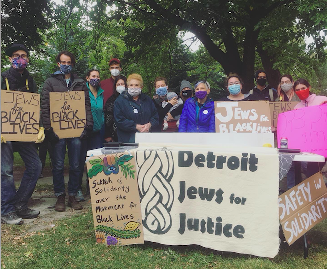 DJJ Leaders during Sukkot at a Black Lives Matter Rally