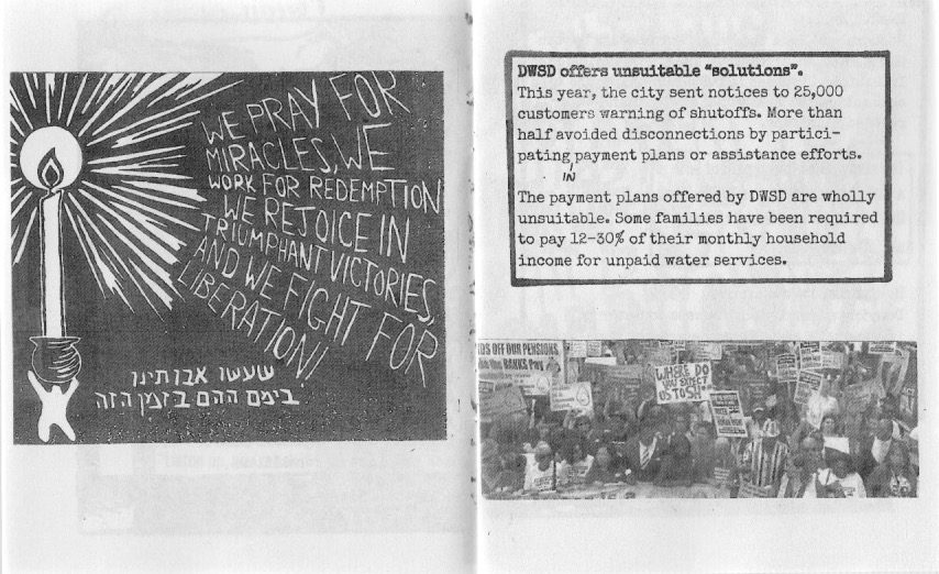 Water Zine Page 9-10 by Hannah Lewis