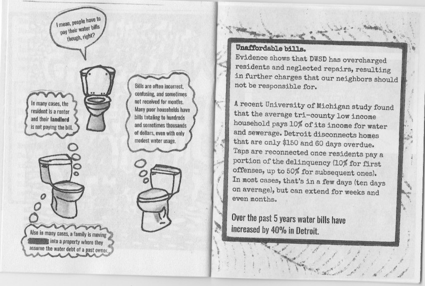 Water Zine Page 13-14 by Hannah Lewis