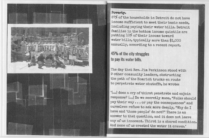 Water Zine Page 15-16 by Hannah Lewis
