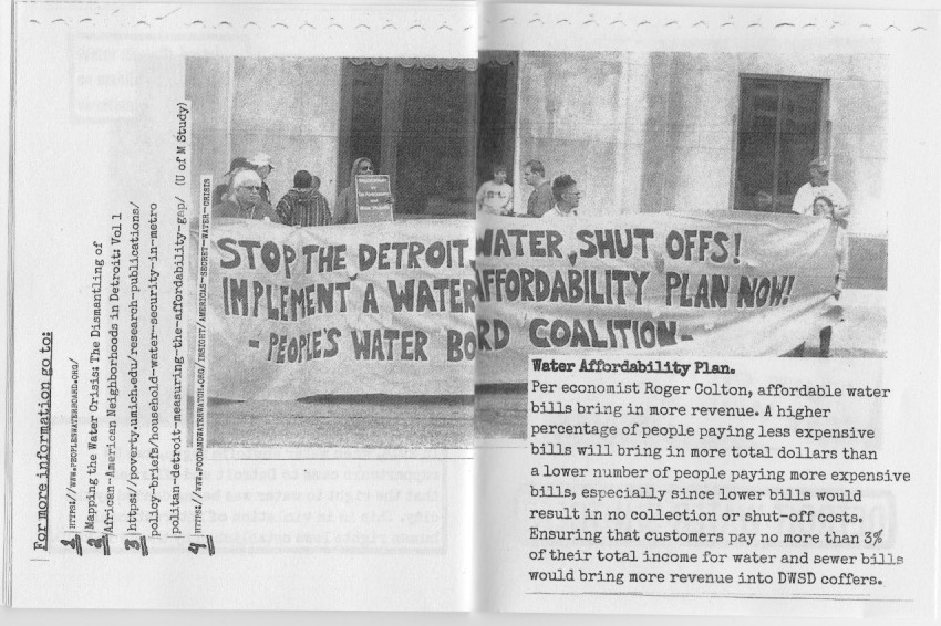 Water Zine Page 21-22 by Hannah Lewis
