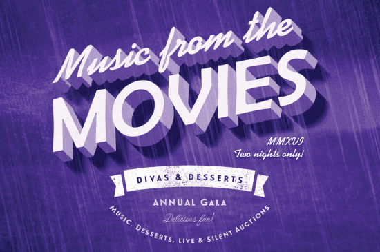 Divas and Desserts 2016 gala artwork