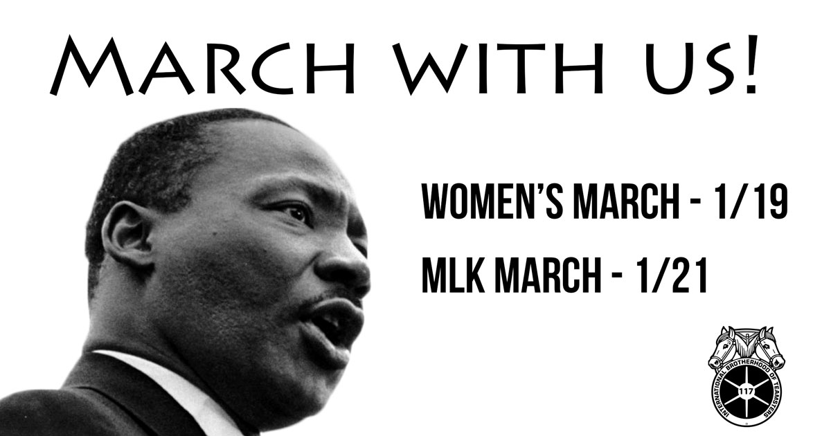 March with us! Women's and MLK Marches this weekend  Image